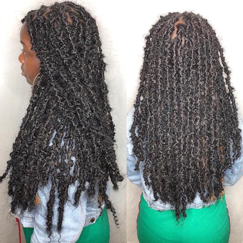 Human Hair Blend Distressed Locs