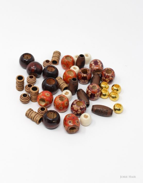 hair beads wooden beads assorted