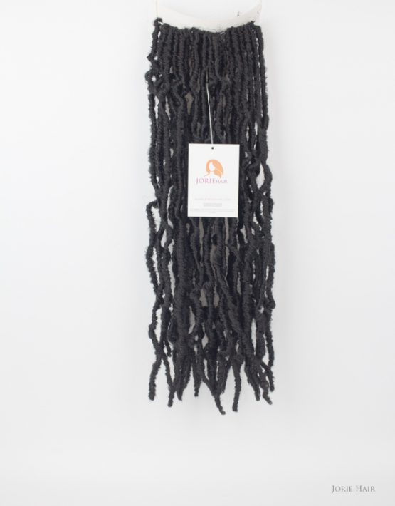 long crochet faux locs kinky 1b black with tags